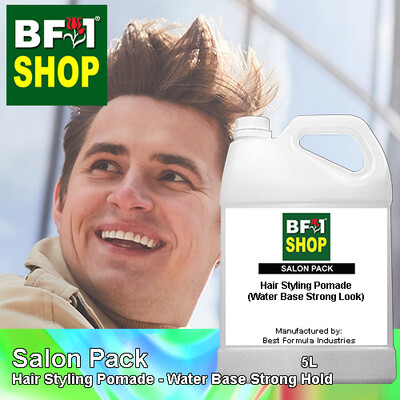 Salon Pack - Hair Styling Pomade - Water Base Strong Hold - 5L