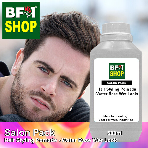Salon Pack - Hair Styling Pomade - Water Base Wet Look - 500ml