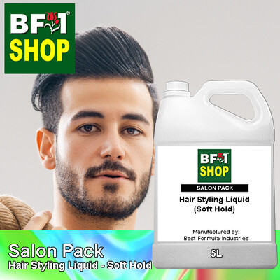 Salon Pack - Hair Styling Liquid - Soft Hold - 5L