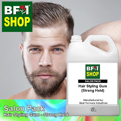 Salon Pack - Hair Styling Gum - Strong Hold - 5L
