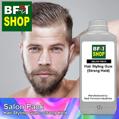 Salon Pack - Hair Styling Gum - Strong Hold - 1L