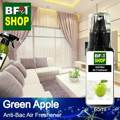 Anti-Bac Air Freshener - 75% Alcohol with Apple - Green Apple - 65ml