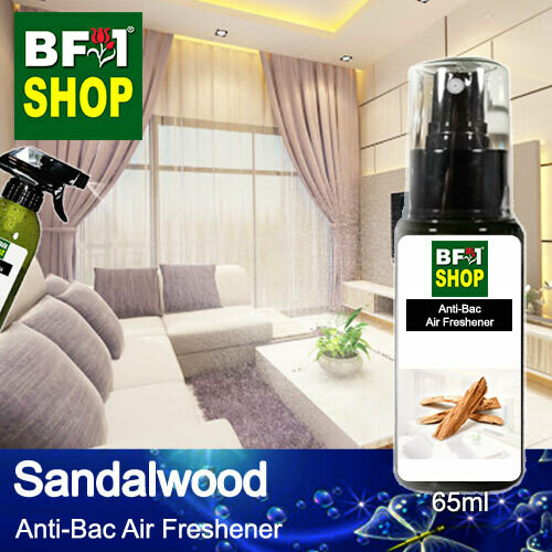 Anti-Bac Air Freshener - 75% Alcohol with Sandalwood - 65ml