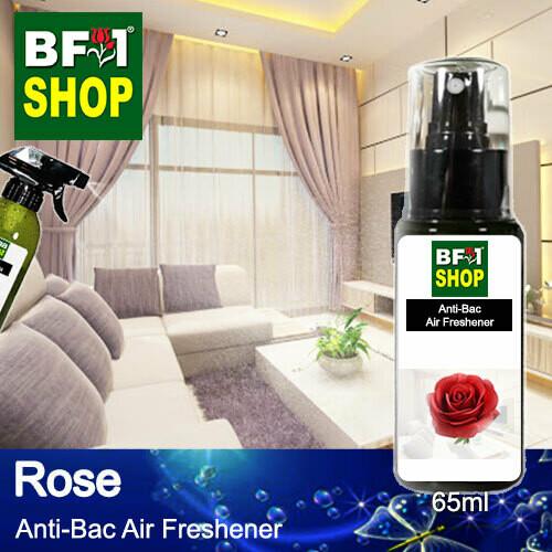 Anti-Bac Air Freshener - 75% Alcohol with Rose - 65ml