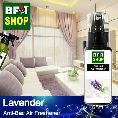 Anti-Bac Air Freshener - 75% Alcohol with Lavender - 65ml