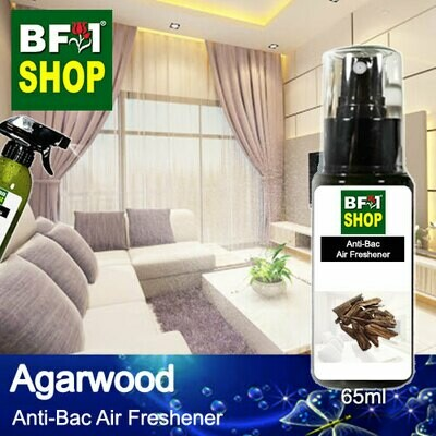 Anti-Bac Air Freshener - 75% Alcohol with Agarwood - 65ml