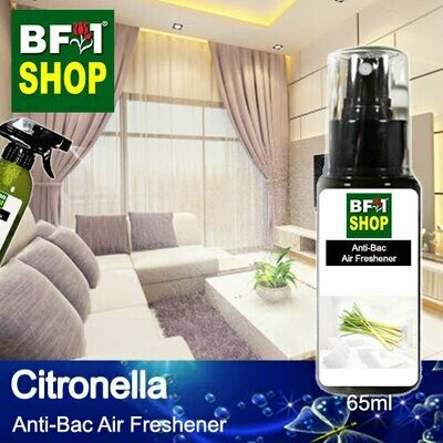 Anti-Bac Air Freshener - 75% Alcohol with Citronella - 65ml