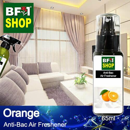 Anti-Bac Air Freshener - 75% Alcohol with Orange - 65ml