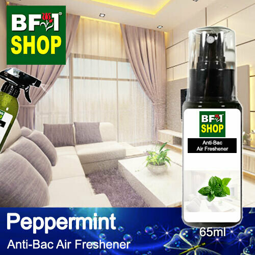 Anti-Bac Air Freshener - 75% Alcohol with mint - Peppermint - 65ml