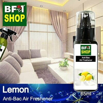 Anti-Bac Air Freshener - 75% Alcohol with Lemon - 65ml