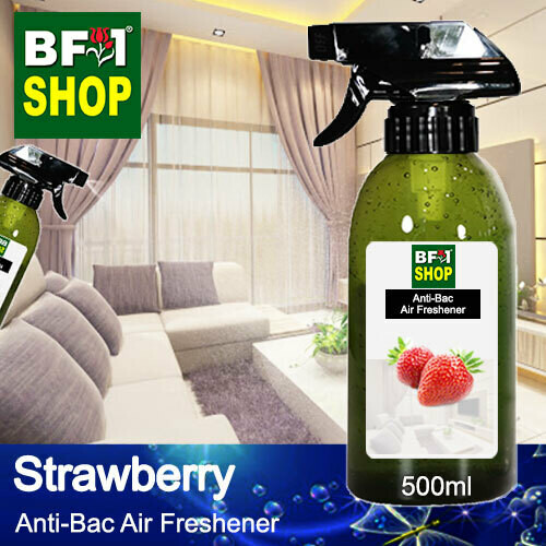 Anti-Bac Air Freshener - 75% Alcohol with Strawberry - 500ml