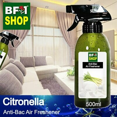 Anti-Bac Air Freshener - 75% Alcohol with Citronella - 500ml