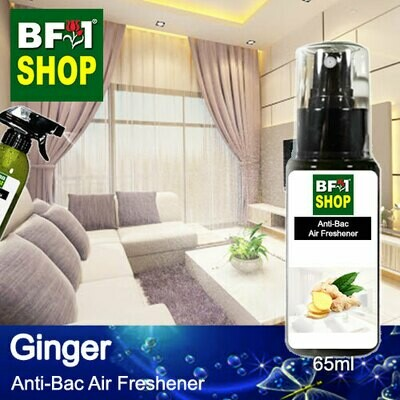 Anti-Bac Air Freshener - 75% Alcohol with Ginger - 65ml