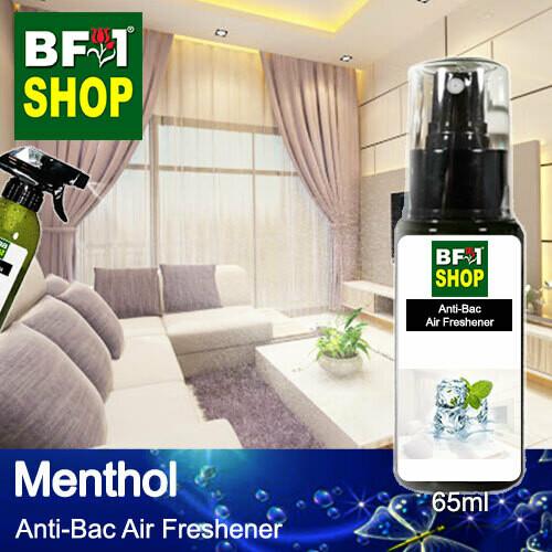 Anti-Bac Air Freshener - 75% Alcohol with Menthol - 65ml