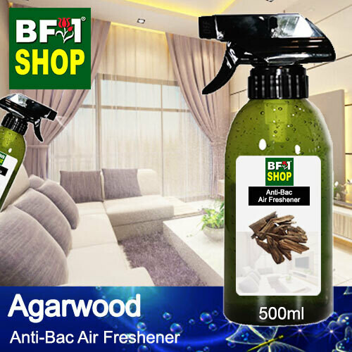 Anti-Bac Air Freshener - 75% Alcohol with Agarwood - 500ml