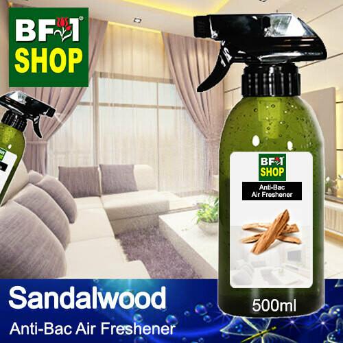 Anti-Bac Air Freshener - 75% Alcohol with Sandalwood - 500ml