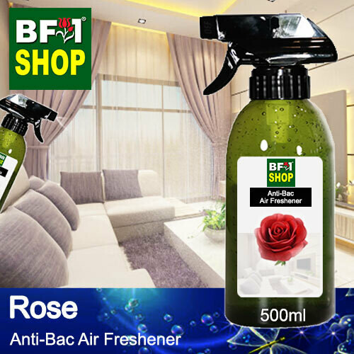 Anti-Bac Air Freshener - 75% Alcohol with Rose - 500ml