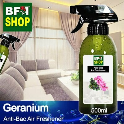 Anti-Bac Air Freshener - 75% Alcohol with Geranium - 500ml