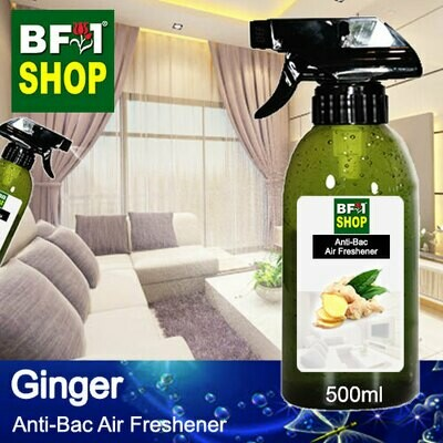 Anti-Bac Air Freshener - 75% Alcohol with Ginger - 500ml