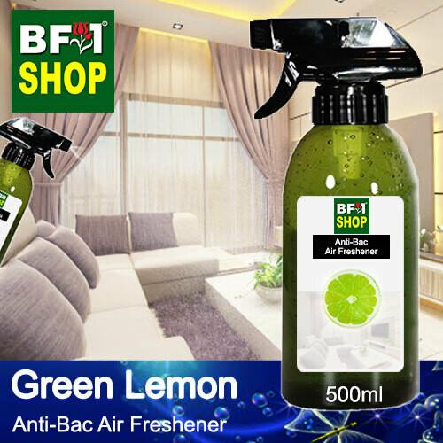 Anti-Bac Air Freshener - 75% Alcohol with Lemon - Green Lemon - 500ml