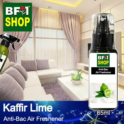 Anti-Bac Air Freshener - 75% Alcohol with lime - Kaffir Lime - 65ml