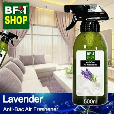 Anti-Bac Air Freshener - 75% Alcohol with Lavender - 500ml