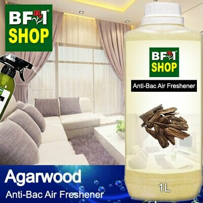 Anti-Bac Air Freshener - 75% Alcohol with Agarwood - 1L