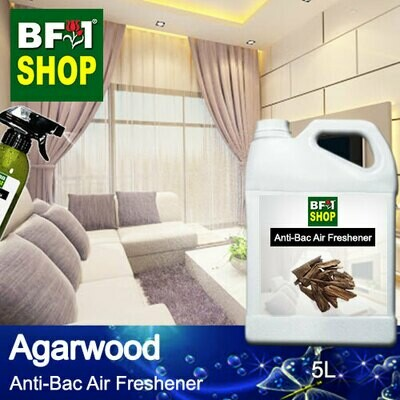 Anti-Bac Air Freshener - 75% Alcohol with Agarwood - 5L