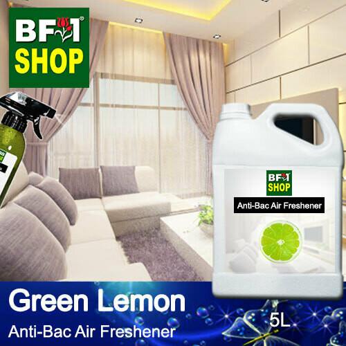Anti-Bac Air Freshener - 75% Alcohol with Lemon - Green Lemon - 5L