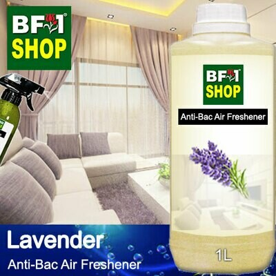 Anti-Bac Air Freshener - 75% Alcohol with Lavender - 1L