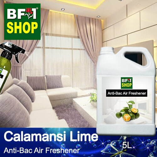 Anti-Bac Air Freshener - 75% Alcohol with lime - Calamansi Lime - 5L