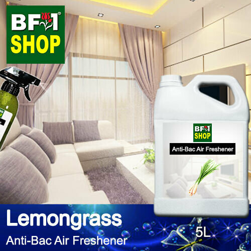 Anti-Bac Air Freshener - 75% Alcohol with Lemongrass - 5L