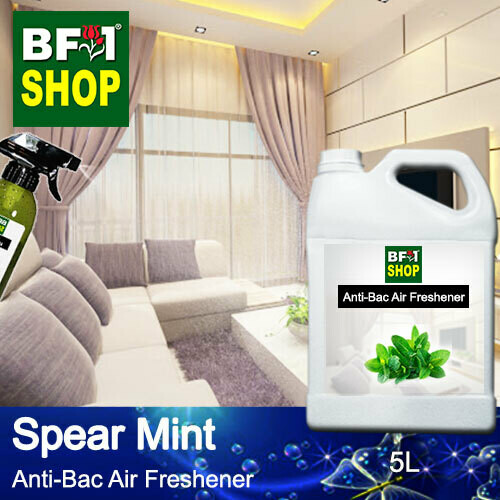 Anti-Bac Air Freshener - 75% Alcohol with mint - Spear Mint - 5L
