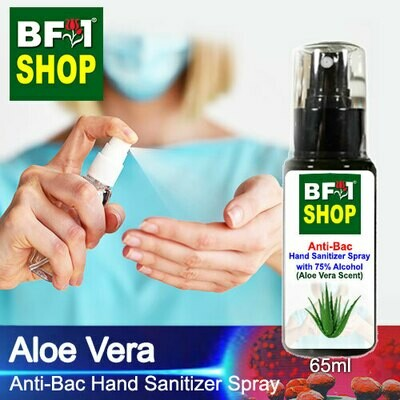 Anti-Bac Hand Sanitizer Spray with 75% Alcohol (ABHSS) - Aloe Vera - 65ml