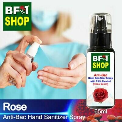 Anti-Bac Hand Sanitizer Spray with 75% Alcohol (ABHSS) - Rose - 65ml