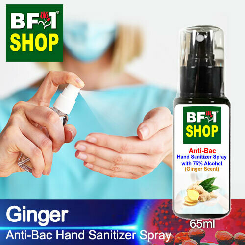 Anti-Bac Hand Sanitizer Spray with 75% Alcohol (ABHSS) - Ginger - 65ml