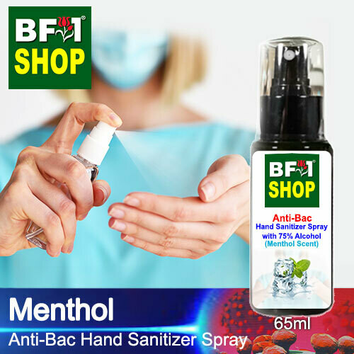 Anti-Bac Hand Sanitizer Spray with 75% Alcohol (ABHSS) - Menthol - 65ml