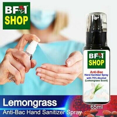 Anti-Bac Hand Sanitizer Spray with 75% Alcohol (ABHSS) - Lemongrass - 65ml