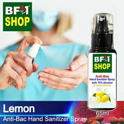 Anti-Bac Hand Sanitizer Spray with 75% Alcohol (ABHSS) - Lemon - 65ml