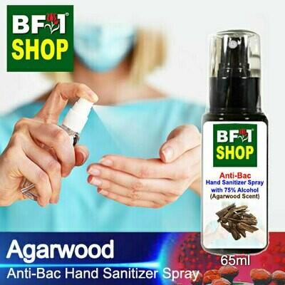 Anti-Bac Hand Sanitizer Spray with 75% Alcohol (ABHSS) - Agarwood - 65ml