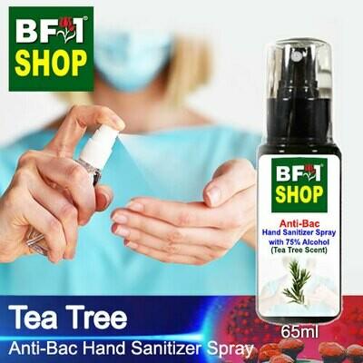 Anti-Bac Hand Sanitizer Spray with 75% Alcohol (ABHSS) - Tea Tree - 65ml