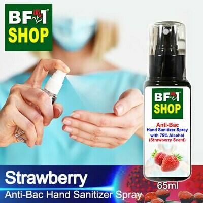 Anti-Bac Hand Sanitizer Spray with 75% Alcohol (ABHSS) - Strawberry - 65ml