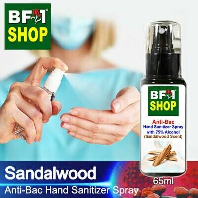 Anti-Bac Hand Sanitizer Spray with 75% Alcohol (ABHSS) - Sandalwood - 65ml