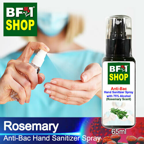 Anti-Bac Hand Sanitizer Spray with 75% Alcohol (ABHSS) - Rosemary - 65ml