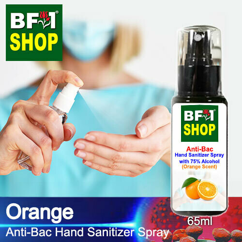 Anti-Bac Hand Sanitizer Spray with 75% Alcohol (ABHSS) - Orange - 65ml