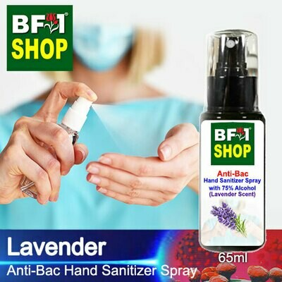 Anti-Bac Hand Sanitizer Spray with 75% Alcohol (ABHSS) - Lavender - 65ml