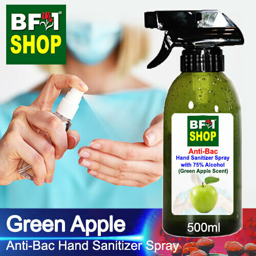 Anti-Bac Hand Sanitizer Spray with 75% Alcohol (ABHSS) - Apple - Green Apple - 500ml