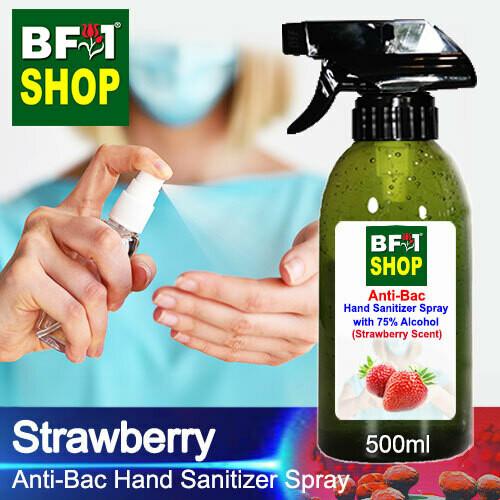Anti-Bac Hand Sanitizer Spray with 75% Alcohol (ABHSS) - Strawberry - 500ml
