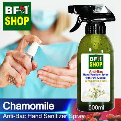 Anti-Bac Hand Sanitizer Spray with 75% Alcohol (ABHSS) - Chamomile - 500ml