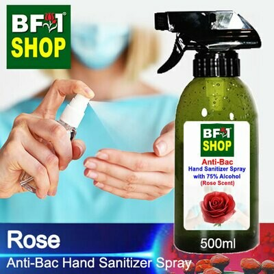 Anti-Bac Hand Sanitizer Spray with 75% Alcohol (ABHSS) - Rose - 500ml